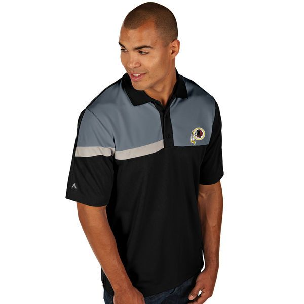Antigua Washington Redskins Players Polo - Black - $35.99