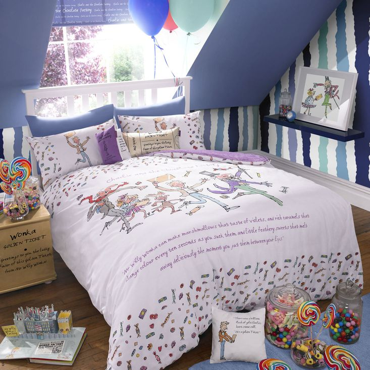 Roald Dahl Charlie And The Chocolate Factory Duvet Cover Pillowcase Set From John Lewis