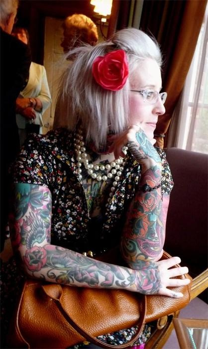 Tiny Miss Becca, owner and tattoo artist at Jayne Doe tattoo in Hornchurch, Essex, Englang.