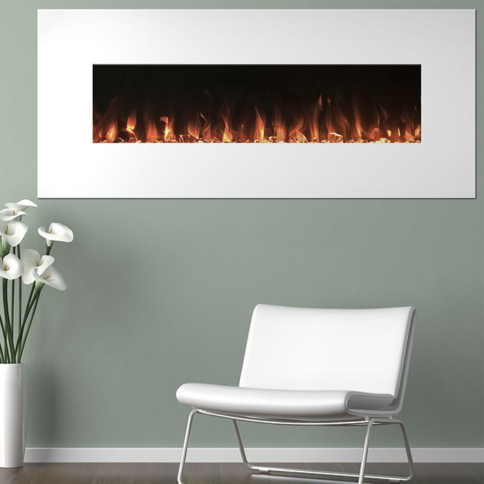 electric fireplace wall mounted color changing led flame u0026 remote 50 inch by northwest