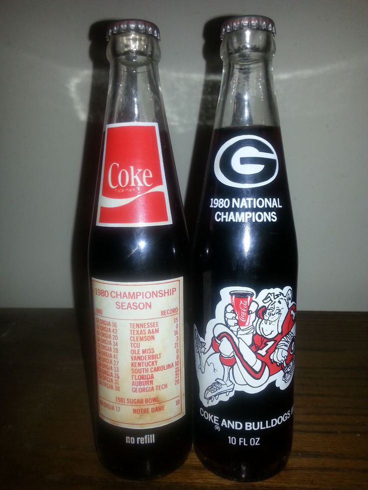 1980 UGA National Championship Season Coke Bottle