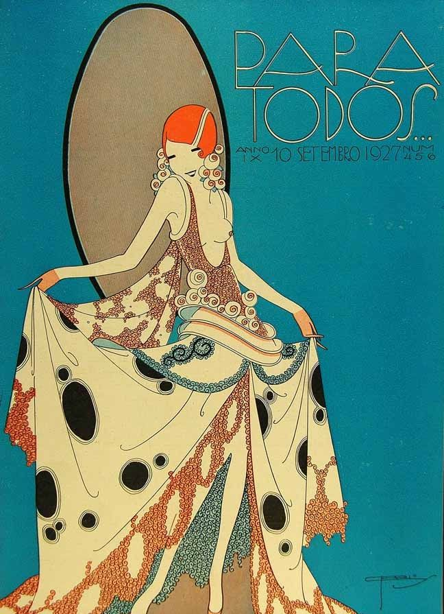 Little information has survived about Brazil's Para Todos magazine. I couldn't actually find what date or why it ever went out of print. I do know that it was created in 1918 with a focus on movie stars, and in 1922 until 1930, it came under the direction of José Carlos, a cartoonist, illustrator an