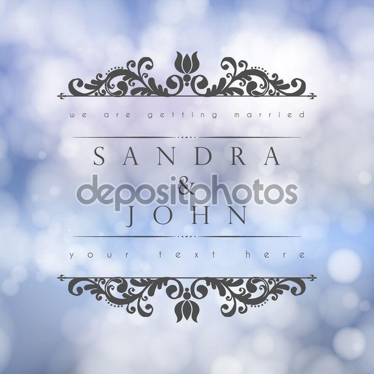 Descargar - Invitación de boda con fondo floral abstracto — Ilustración de stock #70112907