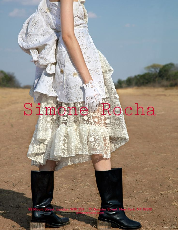 Simone Rocha SS17 campaign, lensed by Jackie Nickerson