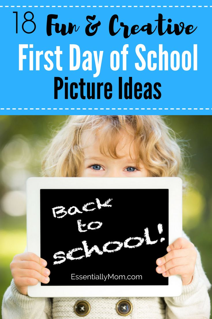 A great way to make your back to school picture stand out is to add a photo prop. Need some inspiration? Check out these 17 fun and creative first day of school picture ideas to make this important day extra special!