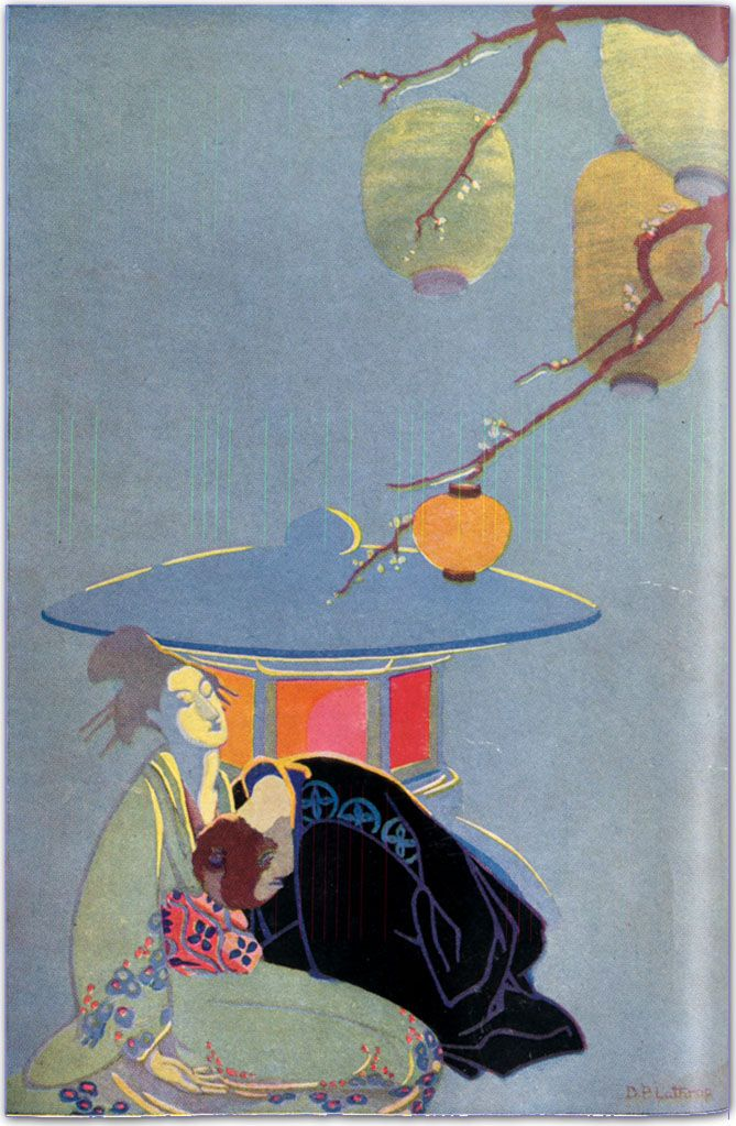 """""""japanese prints"""" ::    this beautiful illustration from 1918 is the frontpiece for the first book Dorothy Pulis Lathrop ever illustrated. she would go on to become the first winner of the caldecott prize for illustrations for a children's books."""
