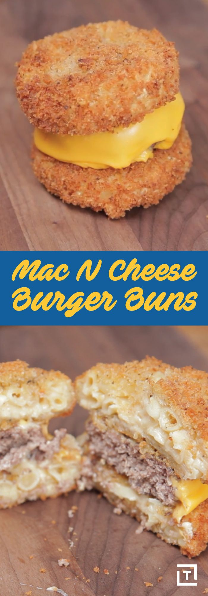 People have been adding mac & cheese to burgers for awhile now. It makes sense -- all that creamy cheese pairs so well with a succulent, impeccably cooked burger -- but this recipe from Food Steez takes the beloved combination to the next level. Think bigger: mac & cheese isn't just a topping, it's a bun. Who needs bread when you can bite into two of your favorite foods at the same time? Try this easy recipe and have your mind blown.