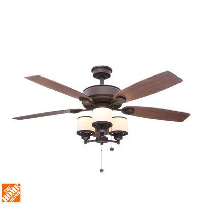 Hampton Bay Waterton II 52 in. Oil-Rubbed Bronze Ceiling Fan-AG510-ORB - The Home Depot