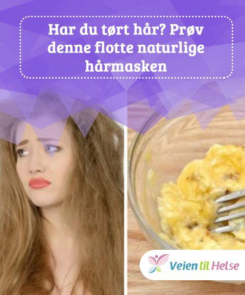 Har du tørt hår? Prøv denne flotte naturlige hårmasken  Med fordelene fra #bananer og vitaminer fra #sitronsaft, hjelper denne #behandlingen håret ditt med å stenge inn fuktighet og #oppfordrer til kollagenproduksjon for å styrke det.