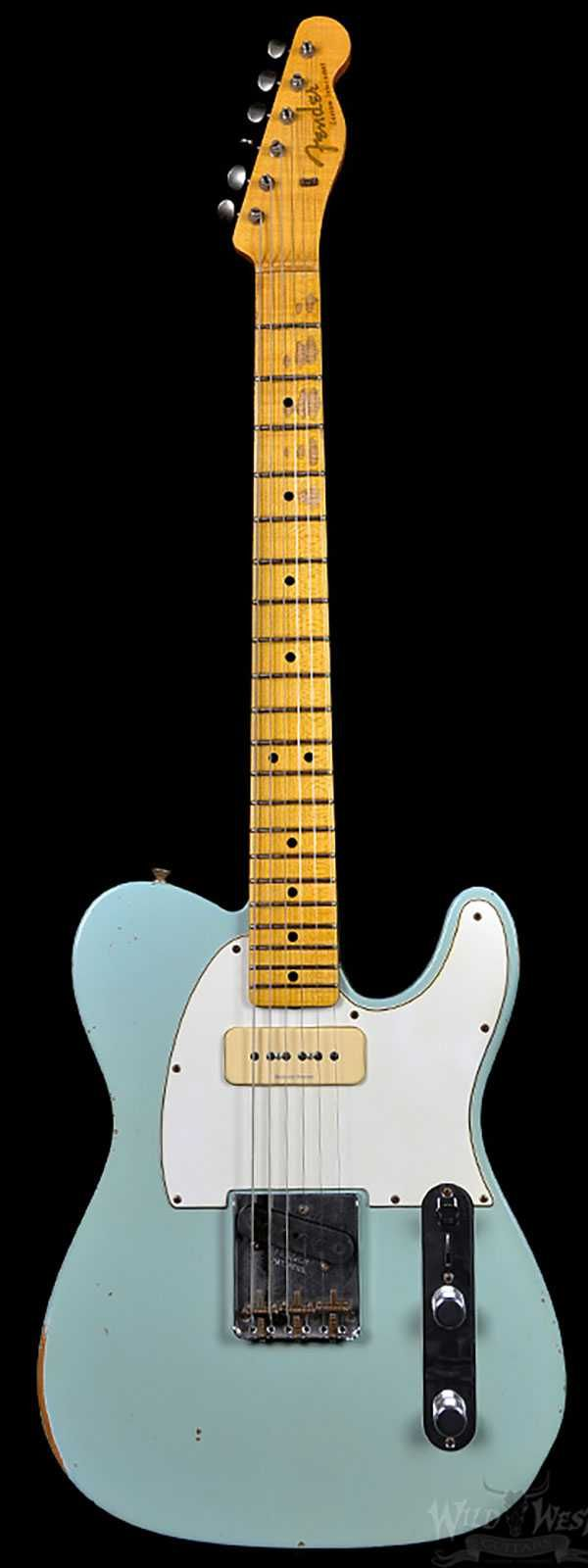 Fender 1963 Custom P90 Relic Telecaster Faded Sonic Blue Preowned