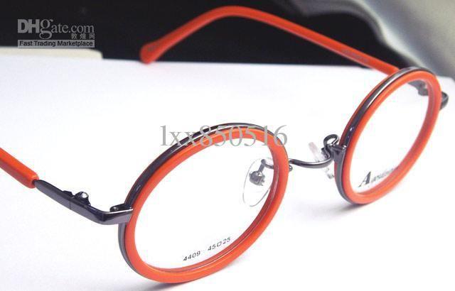 Vintage Round Eyeglass Frames | App.Round Eyeglass Frames Vintage Orange Eyewear Optical Brand New ...