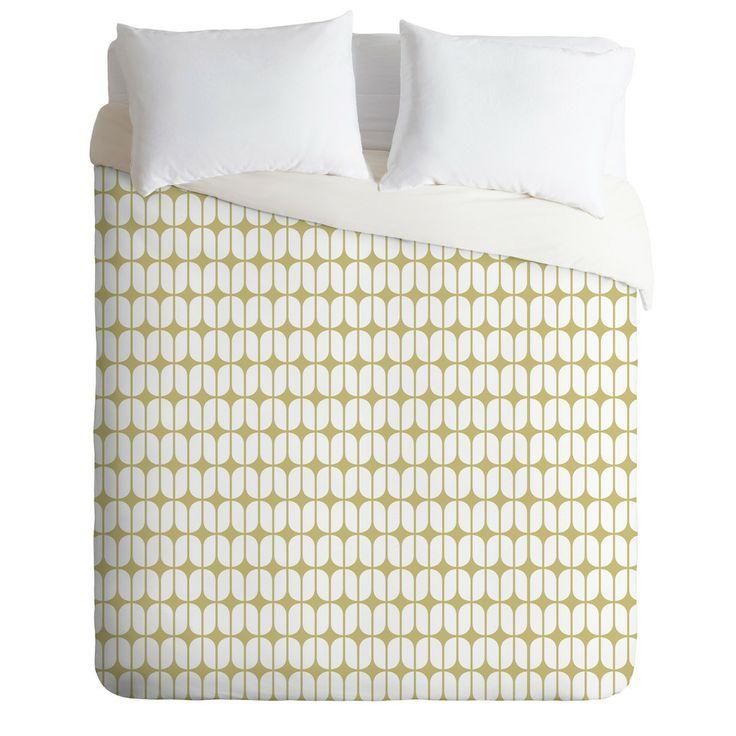Caroline Okun Modular Beige Duvet Cover | DENY Designs Home Accessories
