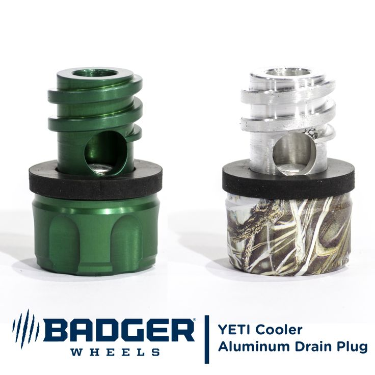 The Grizzly Valve is an all-aluminum, drain plug and relief valve for coolers by #YETI, #Engel, #ORCA, and #ICEHOLE. Available in Silver, Black, Orange, Green, and Camo.