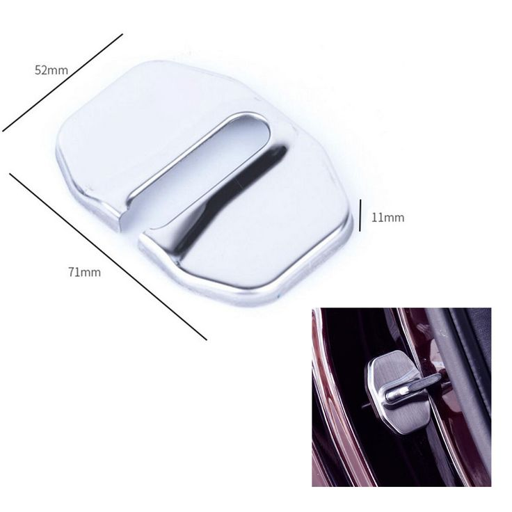 Decorative cover FOR BMW Mini convertible door lock new 4 PCS buckle mini cooper clubman door lock cover Stainless steel #Affiliate