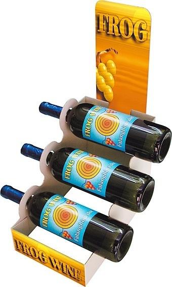 Wine display corrugated board