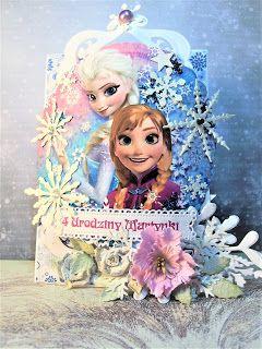 Moje biurko: Zimowa kartka urodzinowa