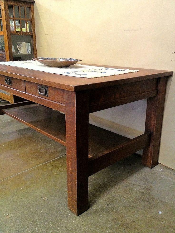 Voorhees Craftsman Mission Oak Furniture - Gustav Stickley 3 ...