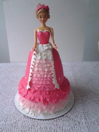 Pink barbie cake
