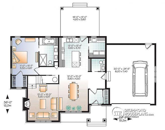16 best dessin Drummond images on Pinterest Garage plans, Drawing - plan agrandissement maison gratuit