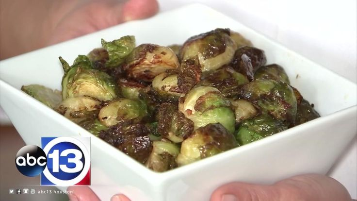 brown butter roasted Brussels sprouts from Canopy in Montrose.