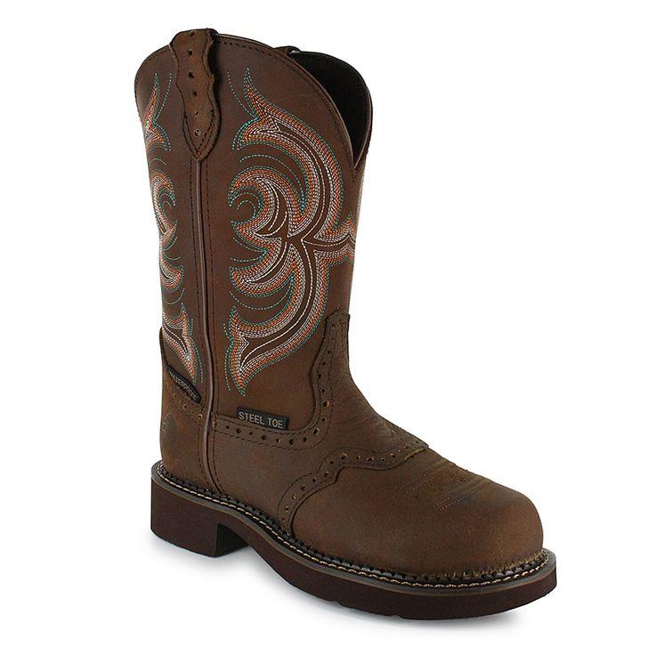 justin s waterproof steel toe western boots