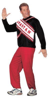 Male Spartan Cheerleader Costume, Saturday Night Live Costume