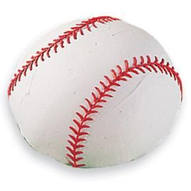 Baseball Cake. Score a big hit with this season's-opener—a tasty cake shaped like a baseball. Make it in the Soccer ball pan, covered and decorated in buttercream icing. And there are enough servings for the entire team (12).