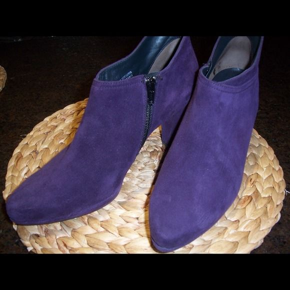 Paul Green Ankle Boots New Authentic PAUL GREEN Women's Purple Suede ankle high Bootie, originally $395 Paul Green Shoes