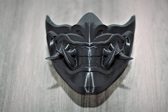 Mortal Kombat 11 Sub Zero Mask Etsy In 2021 Japanese Mask Kitsune Mask Mortal Kombat