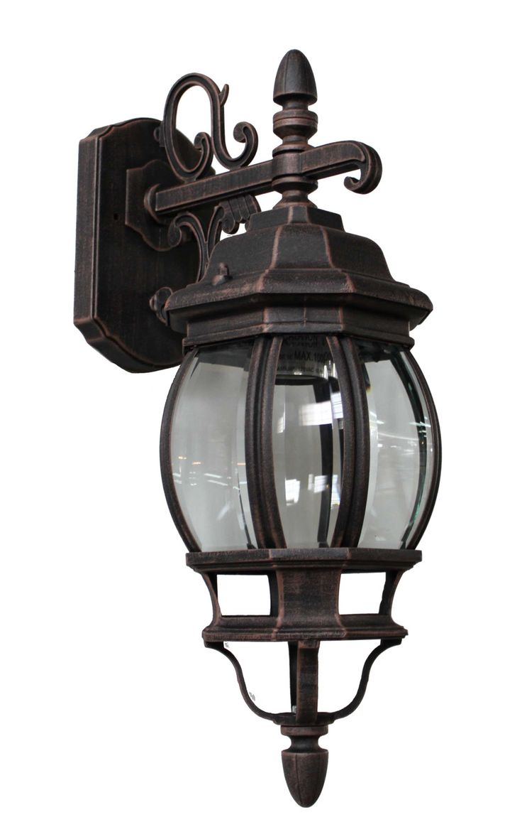 Photon 1 Light Rust Incandescent Outdoor Wall Lantern With Clear Glass At Menards