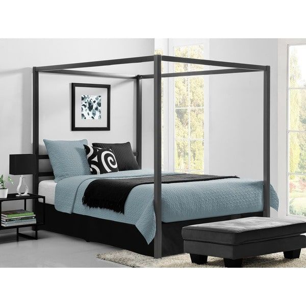 DHP Modern Grey Queen Canopy Bed