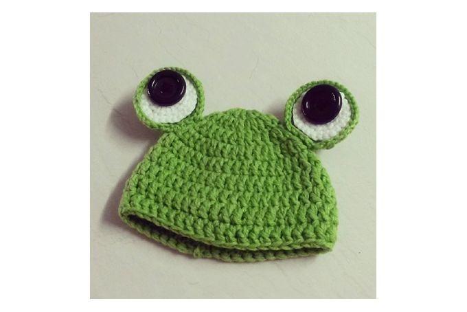 Newborn Frog Beanie by Oh! Crochet