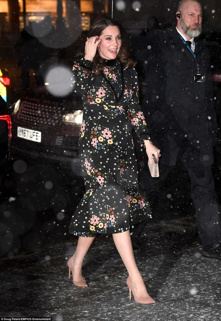 Braving the Beast from the East! The Duchess of Cambridge seemed untroubled by the freezin...