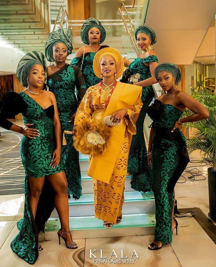 2019 wedding color emerald green nigerian wedding dress