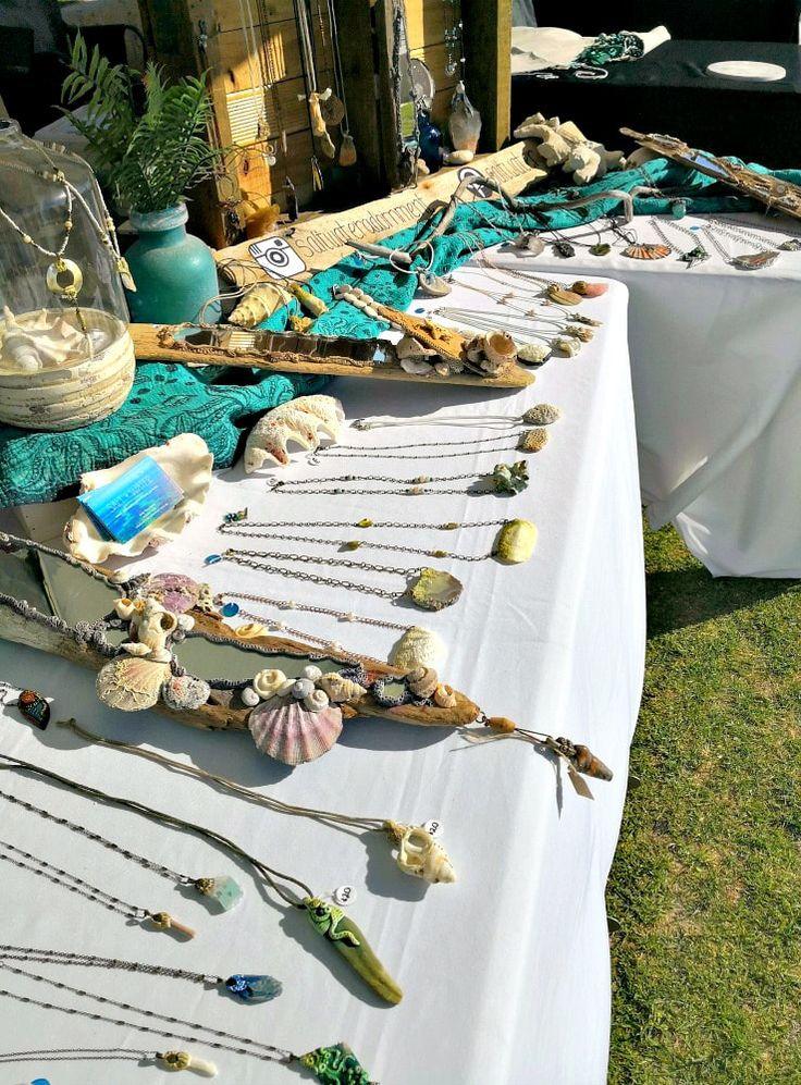 Market Festival Craft-fair display idea for jewelry (Saltwater Adornment blog)
