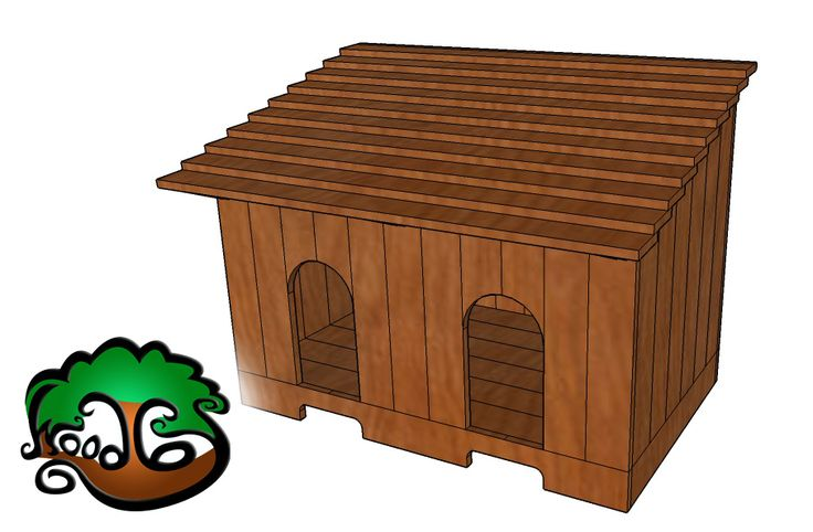 small kennel design for 2 dachshunds