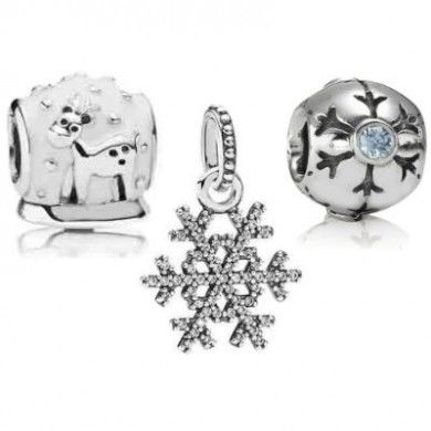 Cheap Pandora Winter Snow Jewelry Set Black Friday Outlet Sale