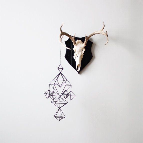 Himmeli no. 5 / Modern Hanging Mobile / Geometric by HRUSKAA