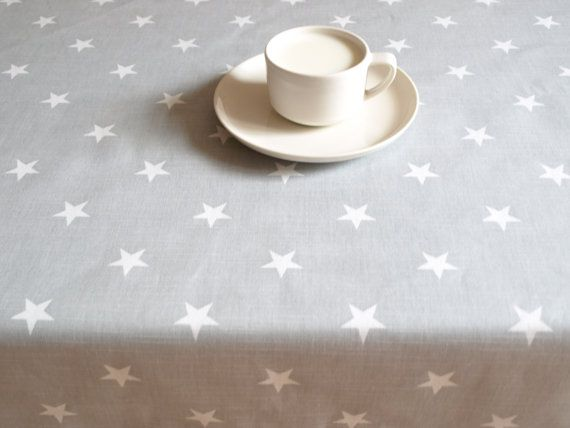 Tablecloth grey with white stars