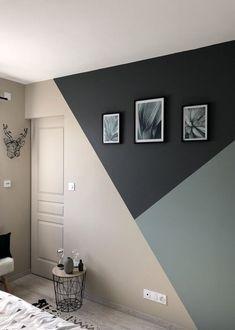 Bedroom Door Design, Bedroom Wall Designs, Home Room Design, Paint Ideas For Bedroom, Room Wall Painting, Room Paint, Creative Wall Painting, Easy Painting Projects, Interior Painting Ideas