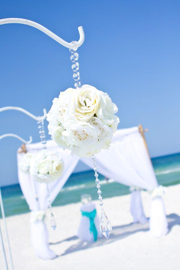 Flower Globes Beach Wedding In Destin Florida