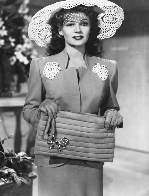 """Rita Hayworth in """"You Were Never Lovelier"""" [1942] Paper doilies anyone?? Perhaps…"""