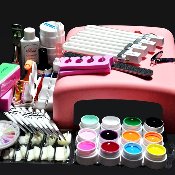 Find More Nail Art Equipment Information about Professional  36W UV GEL Pink Lamp & 12 Color UV Gel Nail Art Tool Kits Sets,High Quality art dotting tool,China tool fish Suppliers, Cheap art tool stencils from Shenzhen ISEE Technology Co., Ltd.  on Aliexpress.com