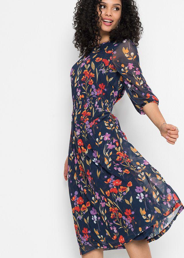 Sukienka W Kwiaty Klanningar Mode Langarmad Klanning