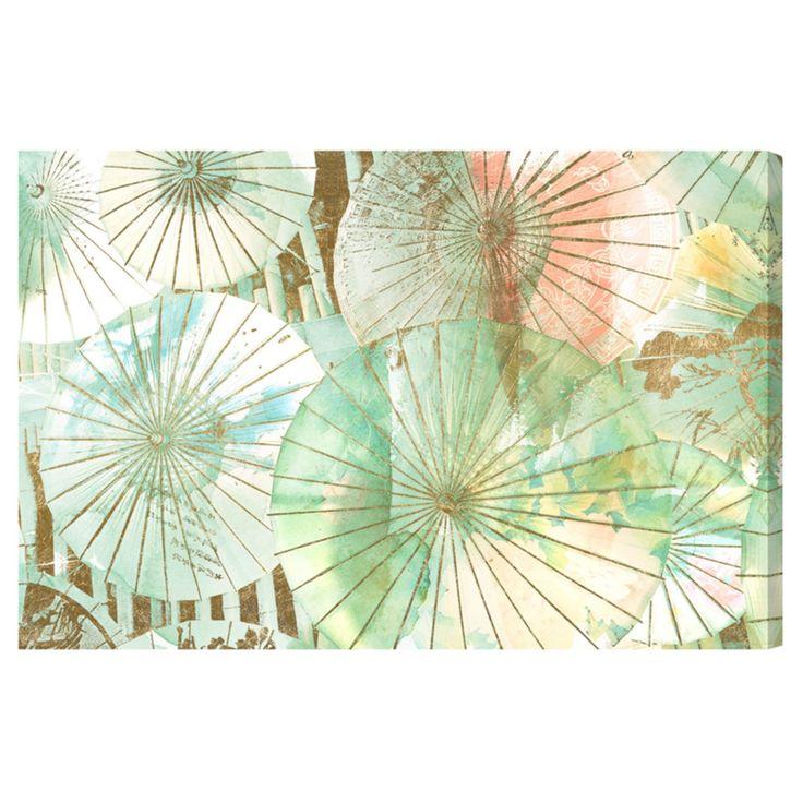 Oliver Gal Umbrella Shop Jade Canvas Art - 20526_15X10_CANV_XHD