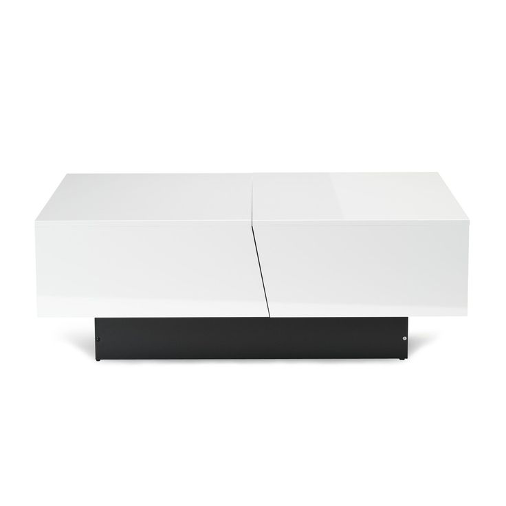 Table basse blanche avec rangement pour bar int gr blanc for Table bar blanche