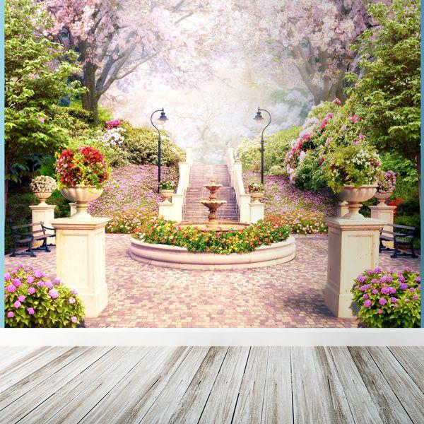 Fotomurale fonte di fiori con petali #fotomurale #mural #parede #muro #decorazione #deco #StickersMurali