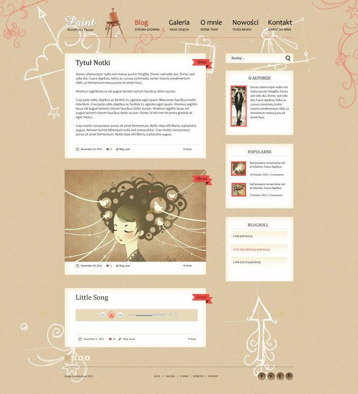 Free PSD Paint Wordpress Theme by webvilla.deviantart.com