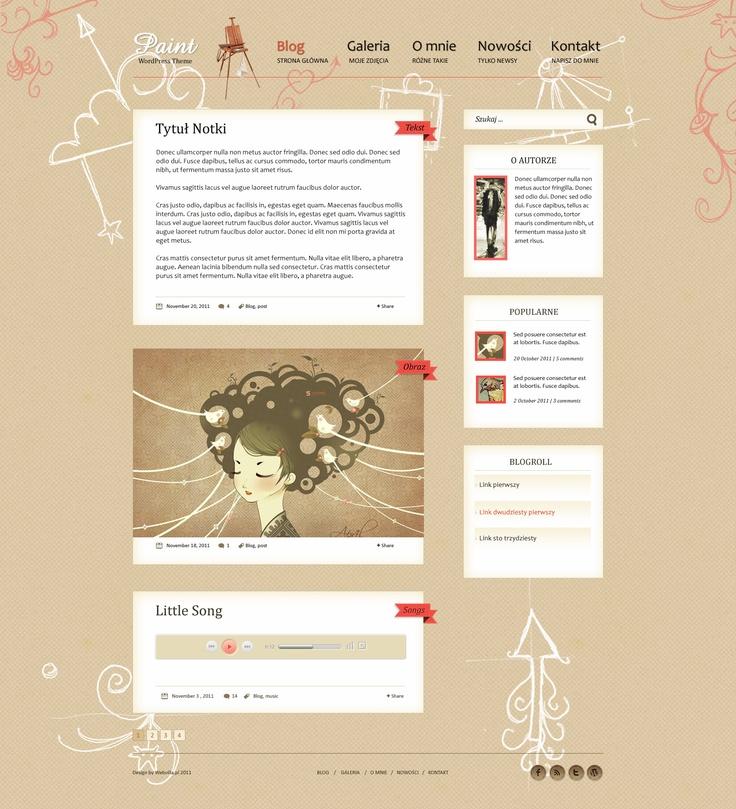 Free PSD Paint Wordpress Theme by webvilla.deviantart.com