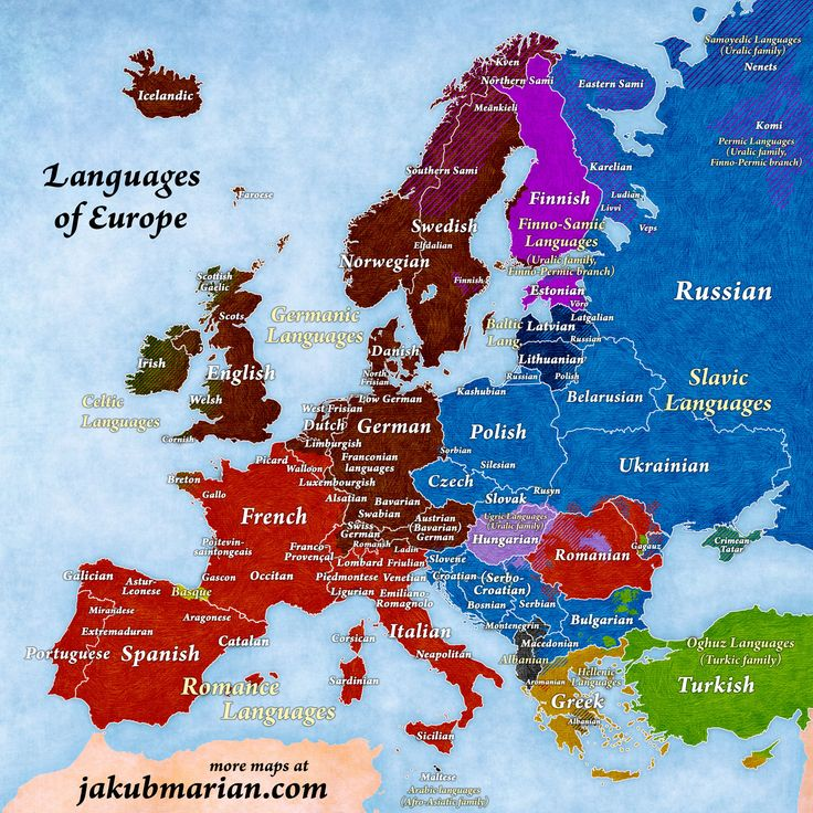Languages and language families of Europe (updated 23 December 2016)